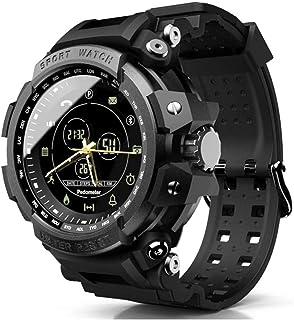 WXG1 Reloj De Los Hombres De Smart Deportes, Reloj Inteligente Impermeable Militar Multifunción con Recordatorio Podómetro Bluetooth Tono, Al Aire Libre Pulsera De Rastreador De Ejercicios,Negro