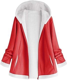Women Hoodies Winter Coat, Ladies Solid Long Sleeve Zipper Jacket Plush Warm Outwear