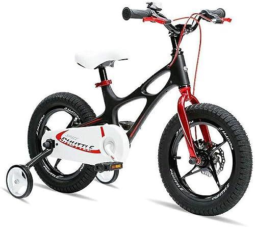 Kinderfahrrad Jugend Stunt Scooter Bike Abnehmbare Stabilisator 14 16 Zoll Teen Push Scooter (Farbe   schwarz, Größe   16INCH)