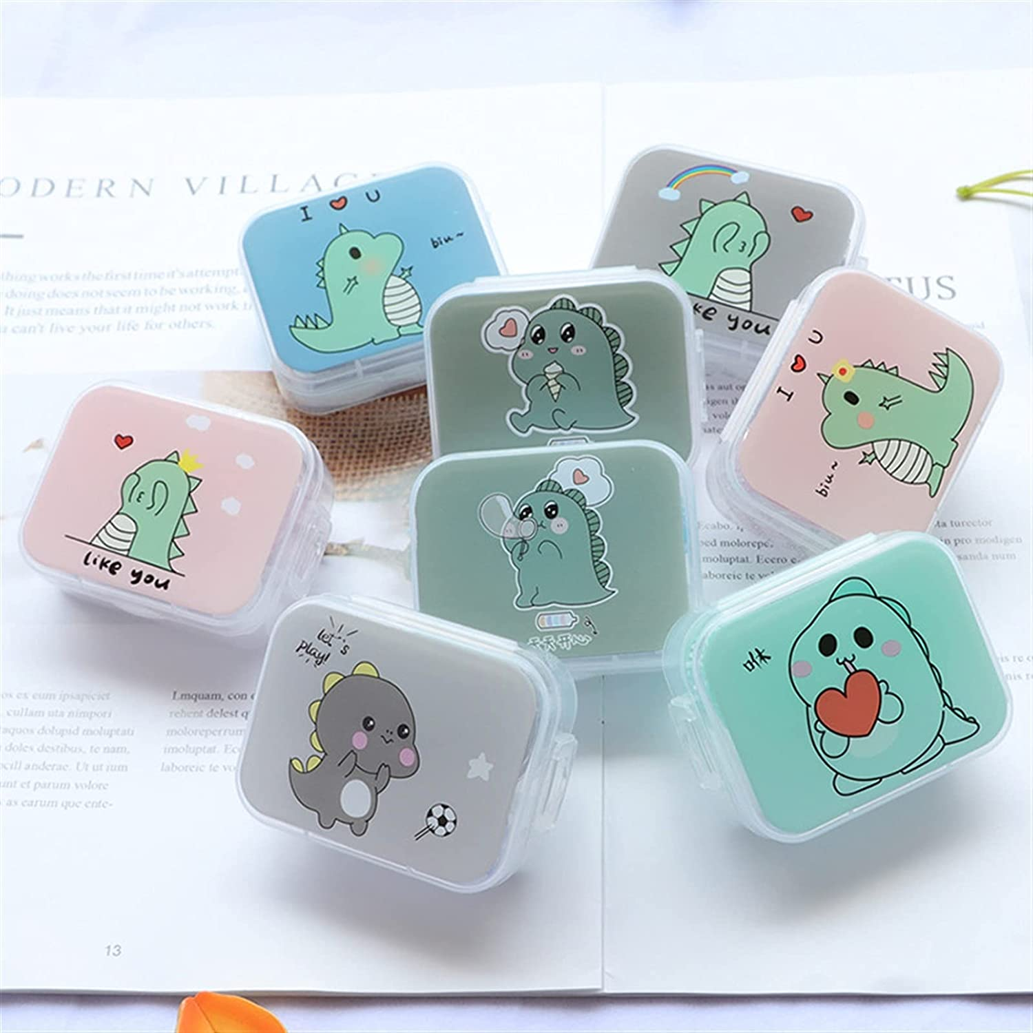 Free shipping on posting reviews LUBINGT Contact Lens Case Cut Outlet sale feature Cartoon New Mini