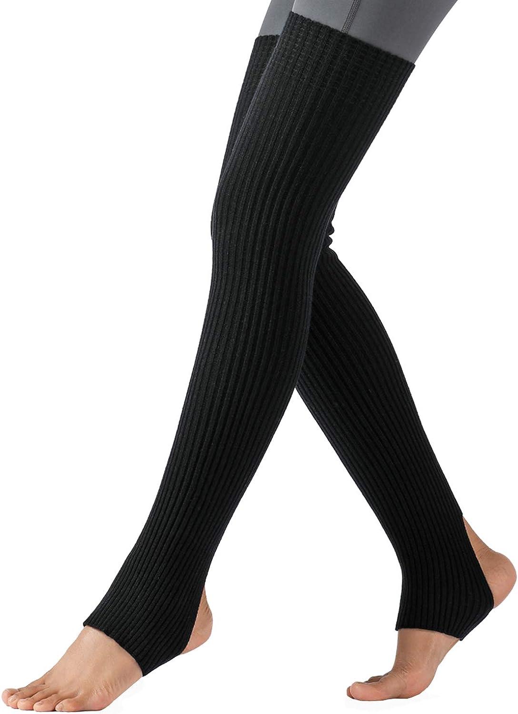 SherryDC Women's Long Leg Warmers Over Knee Thigh High Footless Socks for Dance Yoga Ballet