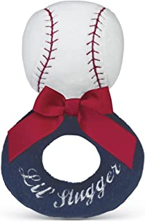 Bearington Baby Lil' Slugger Baseball Soft Ring Rattle 5.5