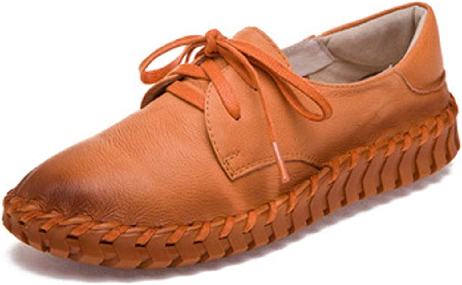 I Need-You New Women Genuine Leather Moccasins Mother Loafers Soft Leisure Flats Female Driving Casual Footwear Size 35-40 5 colors,orange,8