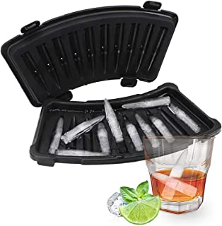 iTimo Bullet Shape Ice Cube Maker, Whiskey Wine Ice Mould, PVC