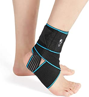 Ankle Support Brace 2 Pack, Adjustable Compression Ankle Braces for Sports Protection, One Size Fits Most for Men & Women
