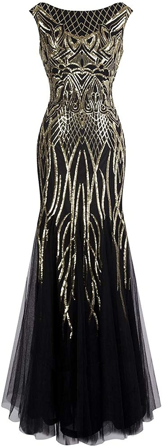 CANFLASHION AngelFashions Women's Strapless Sweetheart Branch Sequins Lace Up Party Dresses