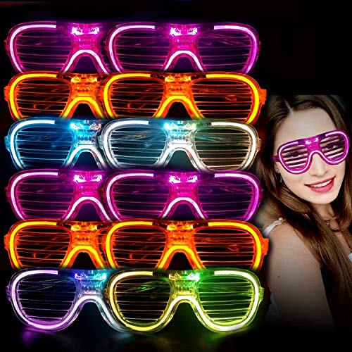 LED Light-UP Shutter Lens Shades with 3 Modes and batteries included