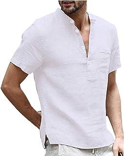 SSBZYES Camiseta para Hombre Camiseta De Manga Corta para Hombre Camiseta De Lino De Algodón Camiseta De Lino Anti-algodón...
