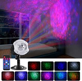 Greenclick Star Projector Lights Ocean Wave Projector Light Indoor Outdoor Christmas Projector Light for Yard Room Wedding Party Festival Holiday etc