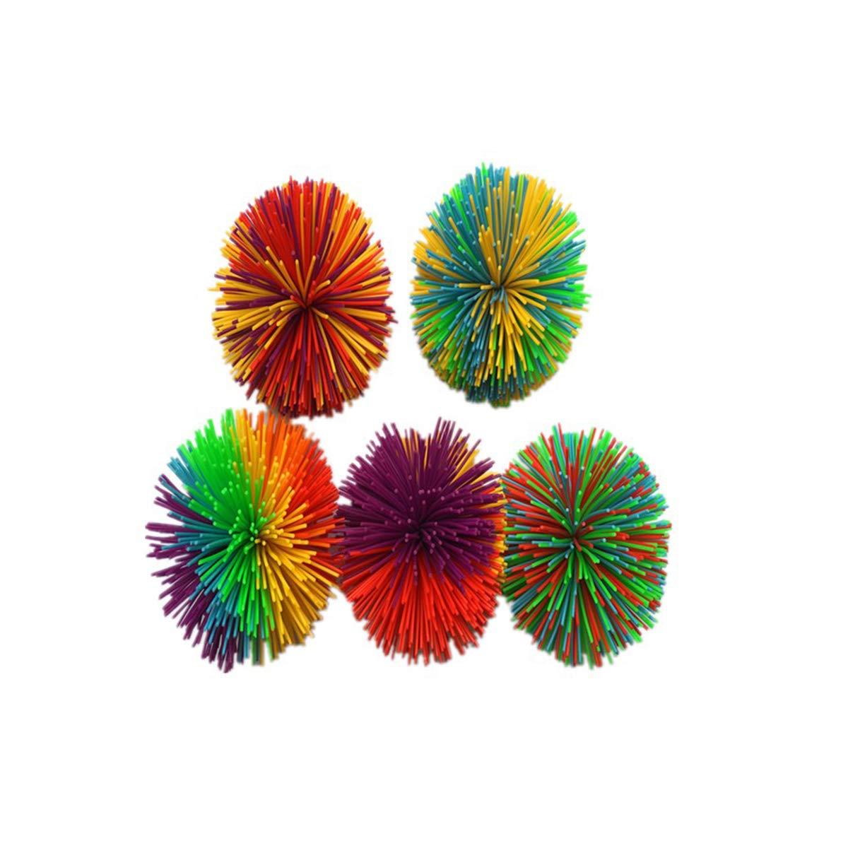 Toyvian 5 unids Bola de Colores Stringy Silicona rebotando Mullido ...