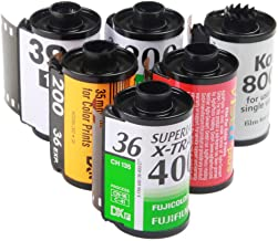 6x Assorted Reloadable Empty Canisters Cassettes For Kodak Fuji 135 35mm Film