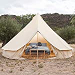 4 Season Bell Tent Outdoor Family Camping Waterproof Bell Tent with Zipped for Family Camping Outdoor Hunting 13