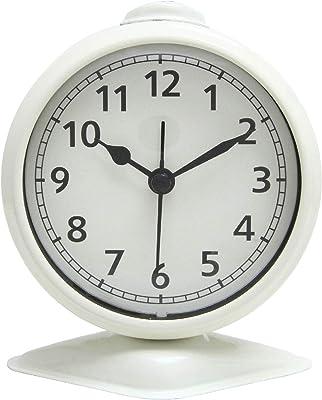不二貿易(Fujiboeki) 置き時計 アイボリー 幅9.7cm テーブルアラーム 99083