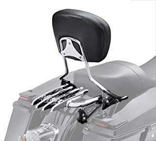 VBROS New Detachable Passenger Backrest Sissy Bar & Stealth Rack For 2009-UP Harley Touring Electra Glide Road Glide Road King Street Glide