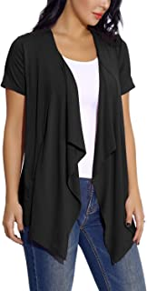 Womens Short Sleeve Open Drape Front Cardigan for Women...