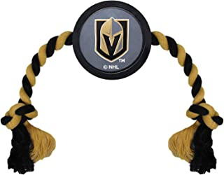 NHL LAS Vegas Golden Knights Puck Toy for Dogs & Cats. Play Hockey with Your Pet with This Licensed Dog Tough Toy Reward!
