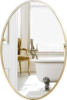 Miroir De Porche Miroir De Rasage De Douche Miroir De Vanit/é De Salle De Bains Grand Miroir Mural Ovale Miroir De Maquillage sans Cadre De Chambre /À Coucher Miroir Cosm/étique De Coiffeuse