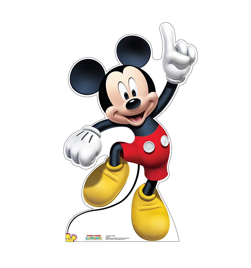 Advanced Graphics Mickey Dance Life Size Cardboard Cutout Standup - Disney's Mickey Mouse Clubhouse