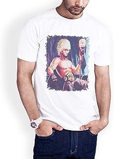 Casual Printed T-Shirt for Men, The hero Habib Mammadov 01, White