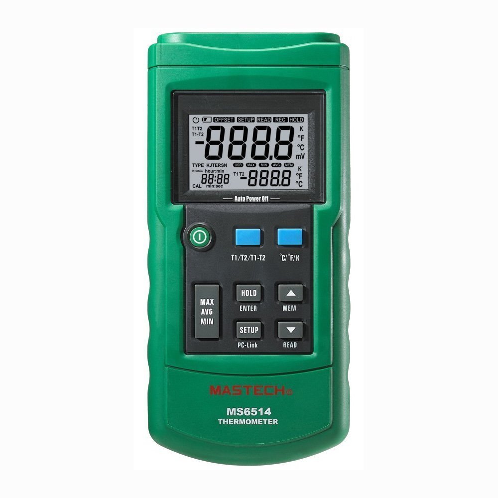 Rare Now on sale Mastech MS6514 Dual Channel Digital Thermometer Tester Inter USB