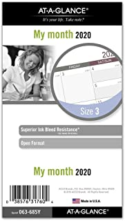 AT-A-GLANCE 2020 Monthly Planner Refill, Day Runner, 3-3/4