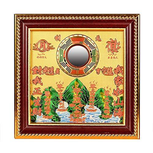 liangzishop Chino Espejo Bagua Feng Shui Chino Dent cóncavo Bagua Feng Shui Espejo taoísta Talisman Energy for el hogar decoración del Ornamento Tradicional Feng Shui Espejo (Size : 12 Inch)