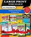 KAPPA Super Saver LARGE PRINT Word Search Puzzle Pack-Set of 9 Carry-Along Digest Size Books