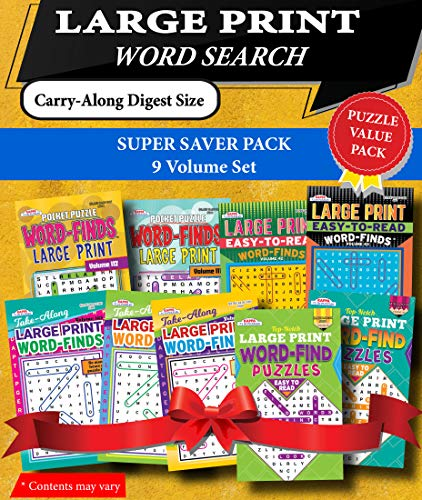 Compare Textbook Prices for KAPPA Super Saver LARGE PRINT Word Search Puzzle Pack-Set of 9 Carry-Along Digest Size Books  ISBN 9781559930086 by Kappa Books Publishers