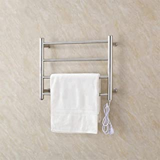 HL Toallero eléctrico, Calentador eléctrico termostático toallero radiador baño, baño de Acero Inoxidable toallero Rack baño tendedero 450 * 540 * 125