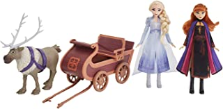 Disney Frozen Sledding Sven and Sisters Elsa and Anna Fashion Dolls With Sven Toy and Sled Inspired by Disney's Frozen 2, ...