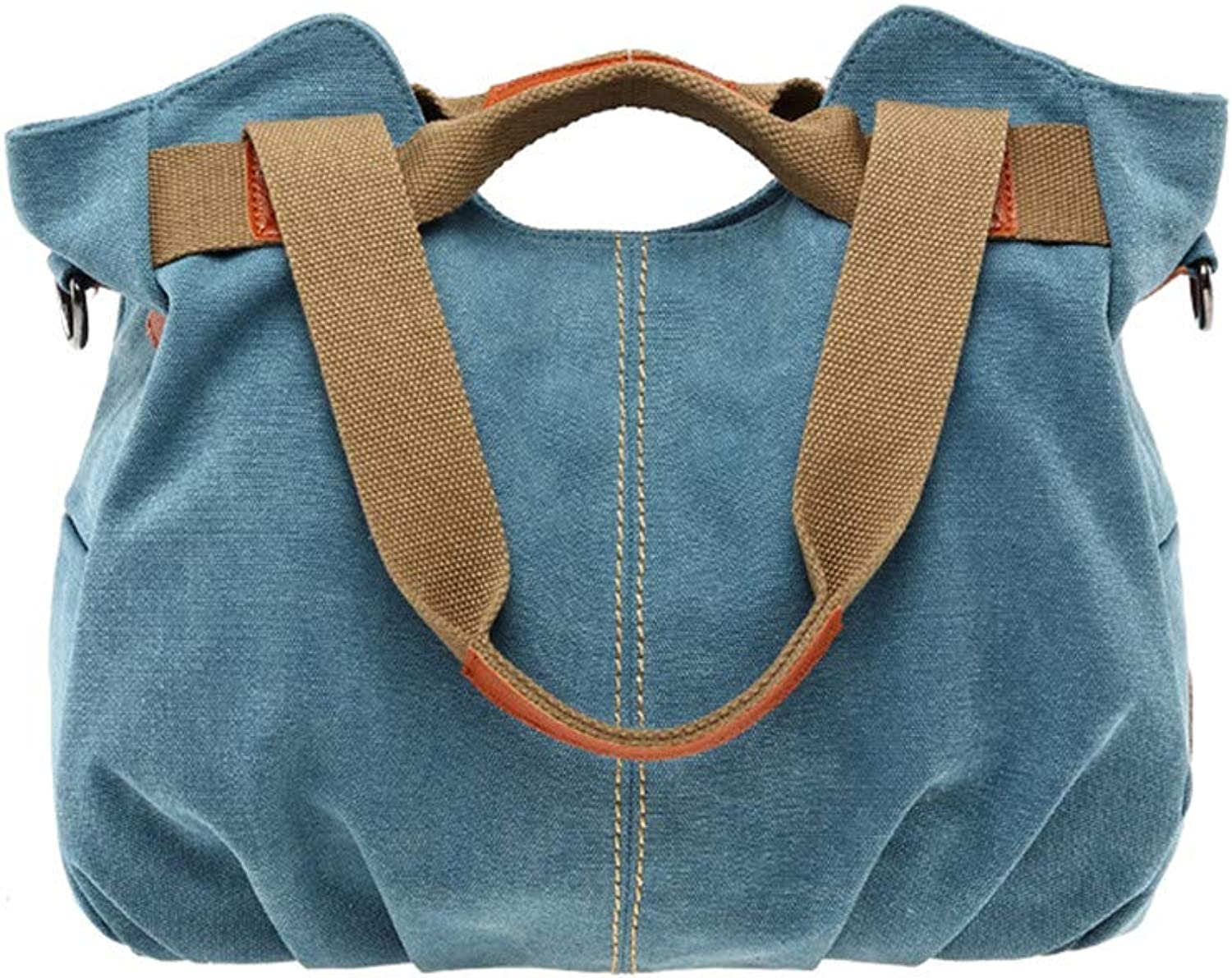 MXQH damen Ladies Bags Vintage Hobo Canvas Daily Purse Purse Purse Shoulder Tote Shopper Handtasche,Blau B07PK7SLYR  Abrechnungspreis a9466f