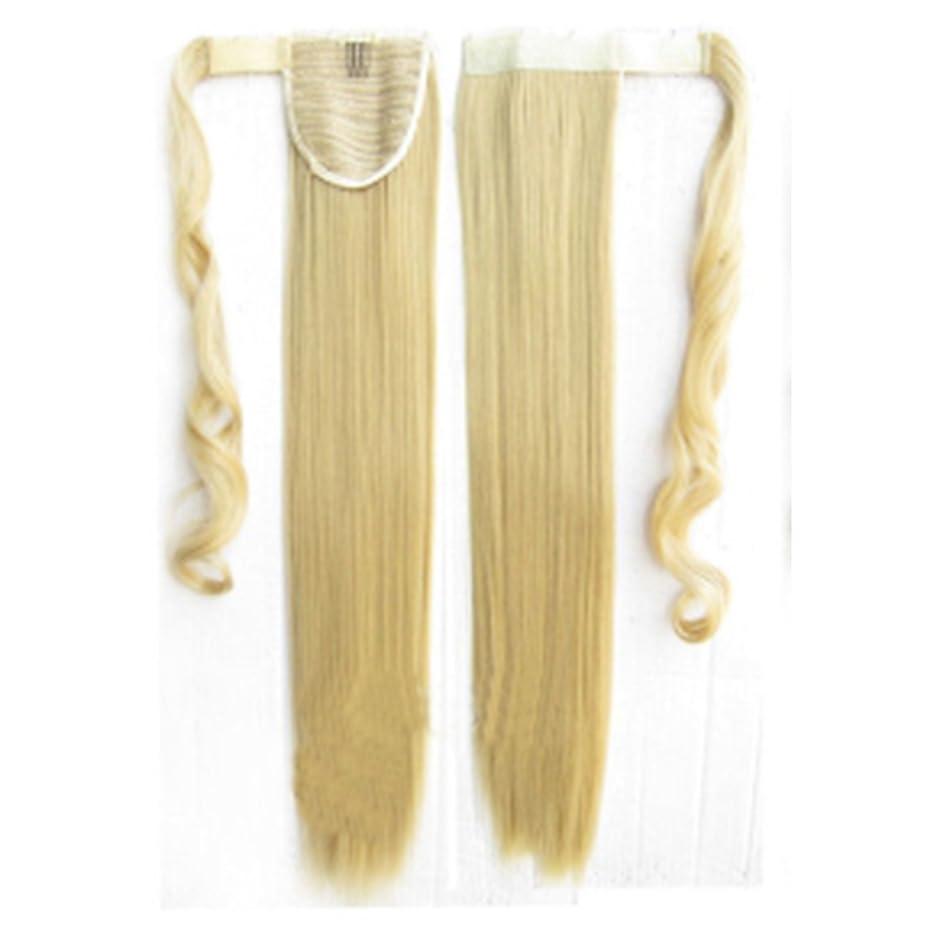 朝ごはん部分ソフィーKoloeplf 女性 人間の髪 ポニーテール エクステンション ラップ 8 * 55センチメートル 100グラム 化学繊維 長い ストレート シルキーソフト(ブラック、ダーク ブラウン、ライト ブラウン、ゴールド、) (Color : Silver)