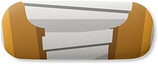 Egypt Mummy Coffin Illustration Pattern Glasses Case Eyeglasses Clam Shell Holder Storage Box