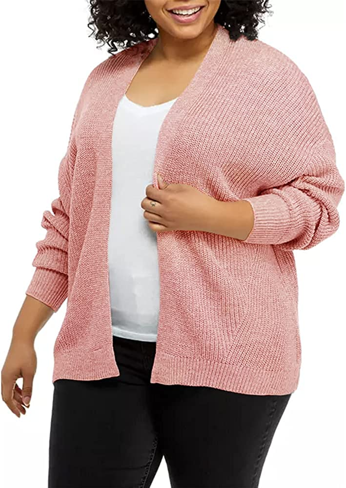 Beauty products Genayge Award Women's Plus Size Cardigan C Casual Knit Sweaters Chunky