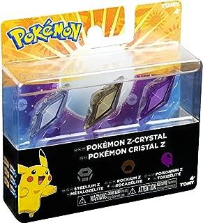 Pokemon Z-Ring Z-Crystal 3-Pack - Steelium Z, Rockium Z, & Poisonium Z
