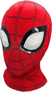2019's Latest Hero Adventure, Superhero Advanced Spiderman Hero mask, Superhero Costume Role-Playing Props Elastic Lycra Fabric (red)