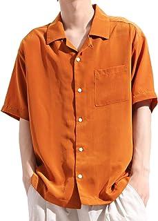 バレッタ Valletta 半袖 ポリトロ オープンカラーシャツ 無地 ビッグ ワイド シルエット カジュアル ストリートモード 夏 メンズ