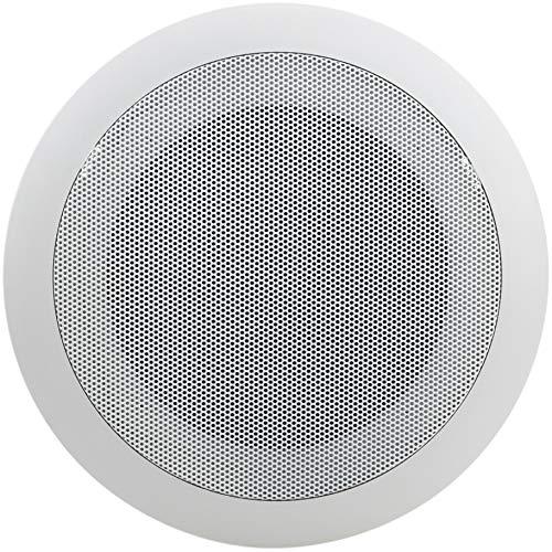 """""""BeMatik - Altavoz de Techo Redondo de 10W 177 mm 5"""""""""""", blanco"""