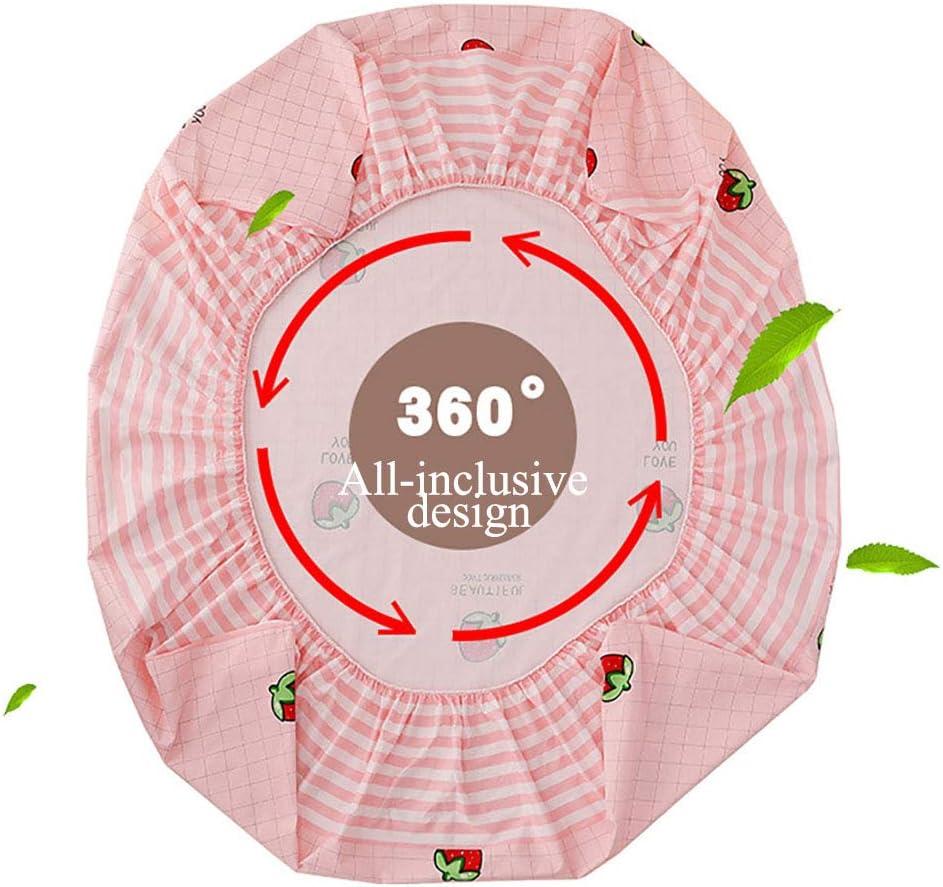 Housse De Matelas 180x200 Impermeable, Protège-Matelas, Tissu De Coton Film Imperméable Et Respirant Antidérapant Lavable Hauteur Jusqu'à 30cm Pas Facile À Se Faner Pink