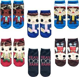 Vercico 6 Pack Ankle Socks Teen Women Stranger Novelty Socks Set No Show Low Cut Girls Casual Socks