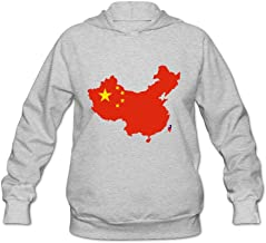 Flag Map Of China Fashion 100% Cotton Long Sleeve Sweatshirts For Adult