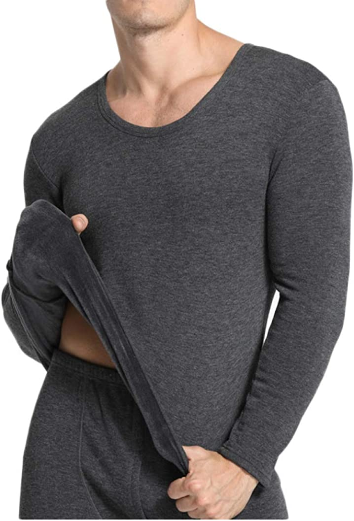 Thermal Underwear for Men Fleece Lined Top and Bottom Base Layer Winter Warm Long John Set