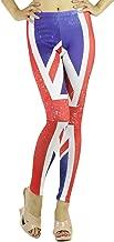 Red Lime Sunday Weathered Union Jack British Flag Print Leggings