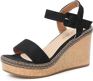 0aa4b325983b0 ❤Sandales Compensées Femme,Xinan Sandales Talon Compensé Chaussures Tongs  Sandales Talons Hauts Peep-