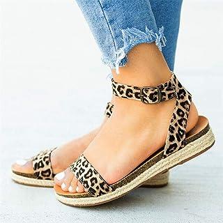 bdaf4f6c BITUBITU - Sandalias de Vestir para Mujer Leopardo Leopard Print 38