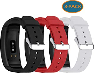Fit for Samsung Gear Fit 2 Pro Bands, Gear Fit2 Band, Silicone Replacement Watch Band Straps Bracelet Wristbands Fit for Samsung Gear Fit2 Pro, Gear Fit 2 (Black Red White)