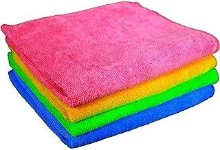 Sheen Microfiber Vehicle washing Cloth || Vehicle washing cloth || GSM 270 || Size 30X40 || Microfiber Cleaning Cloth (4,Multi-Colored)