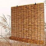 SJMFGF Cortina de caña Natural, Persianas de bambú Sombra de Rodillos, Tejido a Mano, Sombrilla/Aislamiento térmico, Solillas para Interiores, Al Aire Libre, Gazebo, Balcón, Cocina