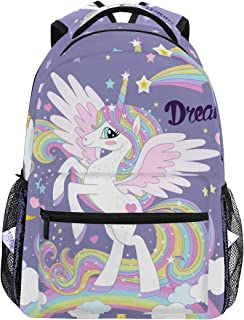School Backpack Stylish Bookbag for Boys Girls Elementary School Casual Travel Bag Computer Laptop Daypack