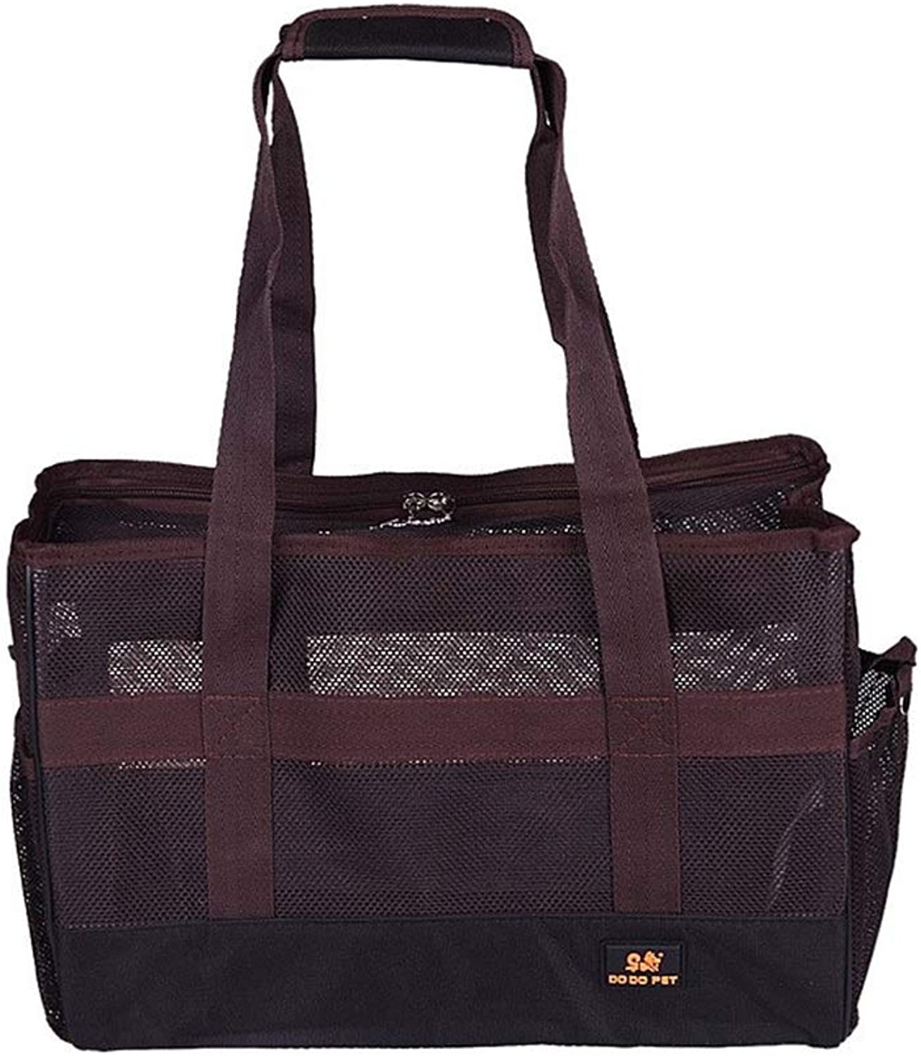 HEJUNF CA Summer Breathable Dog cat Bag Out Portable pet Bag (color   Brown, Size   US 10)